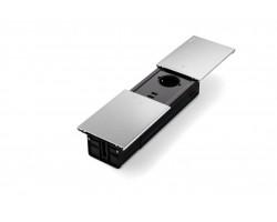 Desk-In Slide 2x230v + 2xUSB Charger + 1xCat6 + 1xHDMI Design inbouwunit