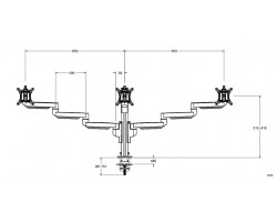 Galaxy triple monitorarm