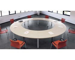 Cool ronde vergadertafel