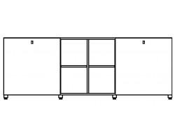 Cubic kast twaalf vakken laag
