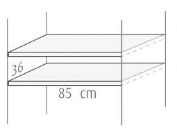 Set van twee planken