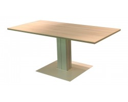 Verstelbare tafel met enkele kolom