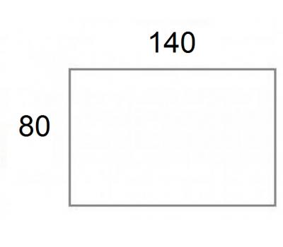 Blad 140x80 cm