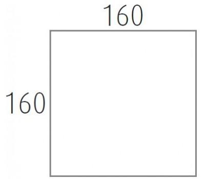 Blad 160x160 cm