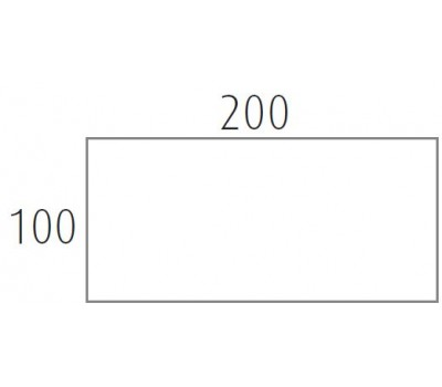 Blad 200x100 cm