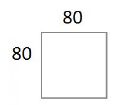 Vierkant blad 80x80 cm