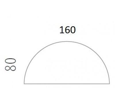 Blad halfrond 160x80
