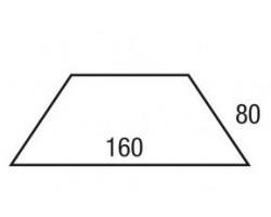 Blad trapezium 160x80/80/80