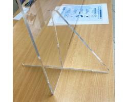 Plexiglas preventiescherm met doorgeefluik - staande voet