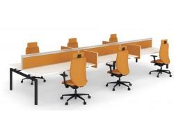Desk-up scheidingswand 38 cm hoog